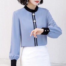 Korean Chiffon Women Blouses Women Shirts Woman Lo