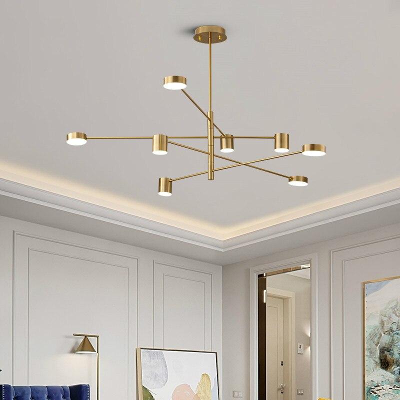 Luxo moderno pingente de ouro luzes led nordic criativo loft ferro pendurado lâmpada para restaurante sala estar quarto barra interior deco - 3