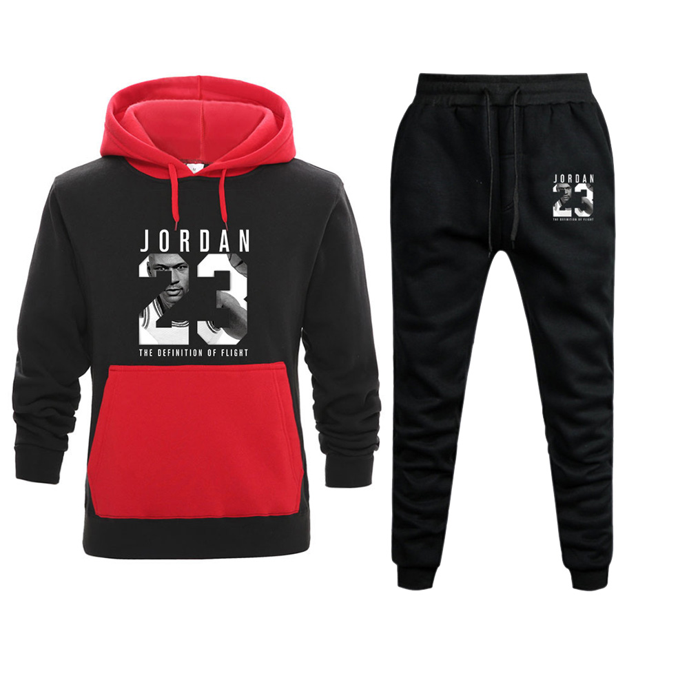 New Tracksuit Brand New Fashion JORDAN 23 Men Sportswear Print Men Hoodies Pullover Hip Hop Mens Patchwork Sweatshirts Clothing