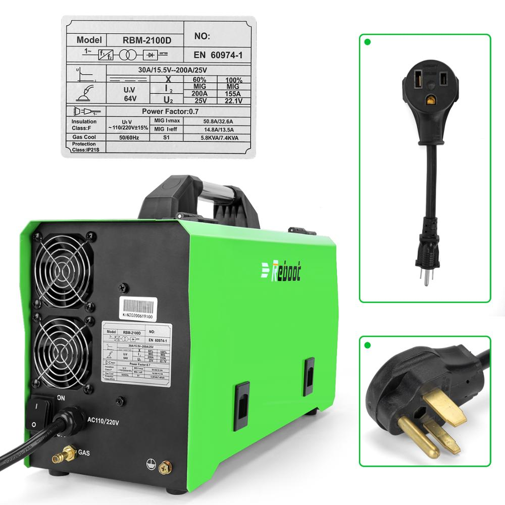 Tools : REBOOT Mig Welder MIG Stick Lift TIG Welder 4 in 1 Synergy Control 180A Gas Gasless Welding Machine MIG210  Machines