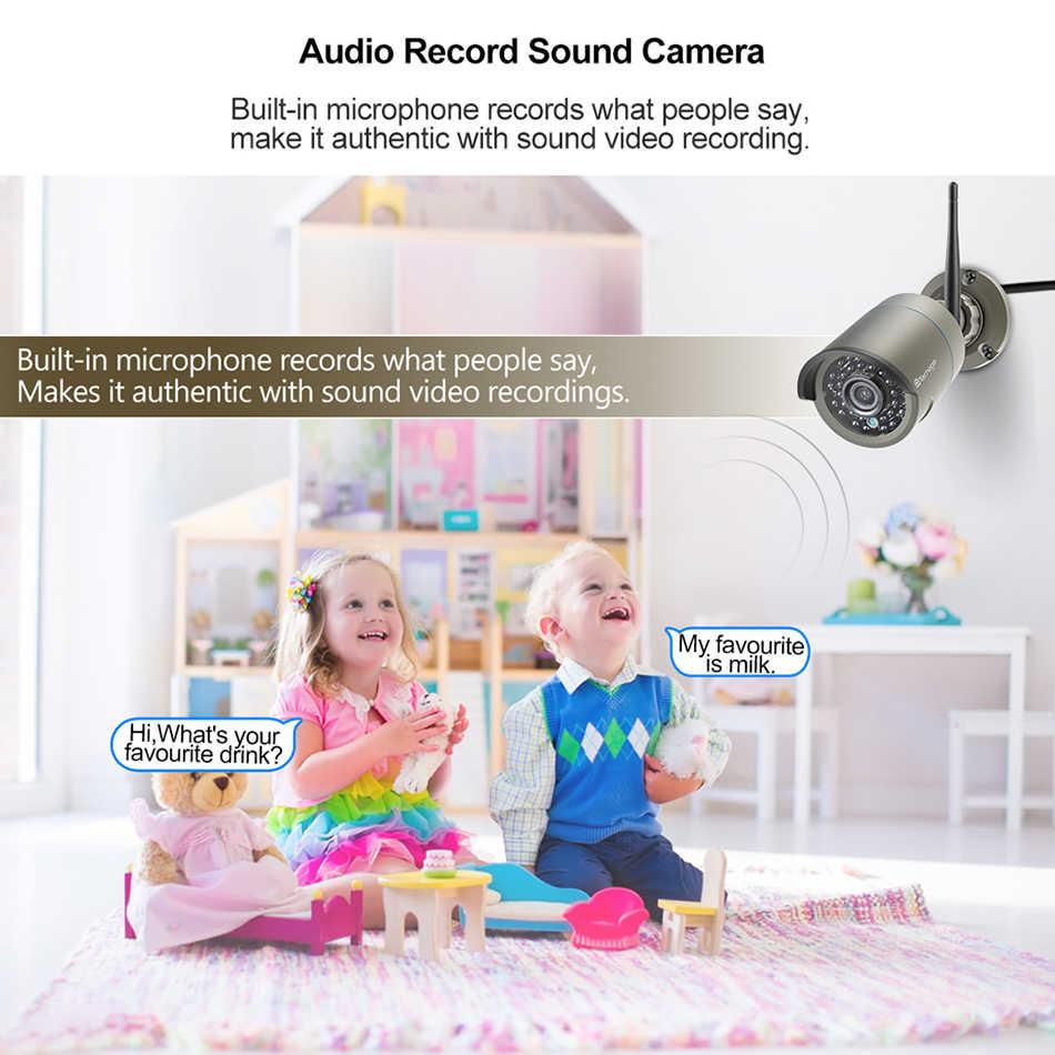 Techage H.265 8CH 1080P bezprzewodowy zestaw monitoringu NVR 2MP bezpieczeństwo zewnętrzne zapis Audio Wifi kamera IP P2P wideo CCTV System nadzoru zestaw