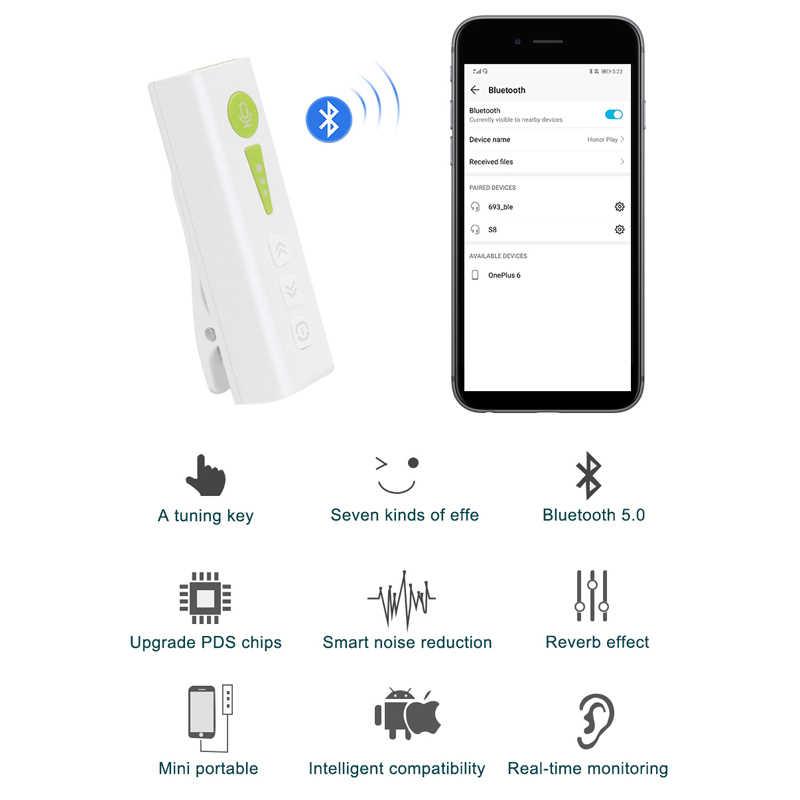 ワイヤレスマイク Bluetooth 5.0 多機能ステレオ襟クリップスマートフォンマイク USB Ios/アンドロイド