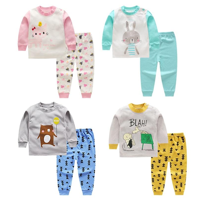 Baby Kids   Pajamas     Sets   Autumn Boys Sleepwear Suit Toddler Girls Christmas   Pajamas   Long Sleeve Tops+Pants 2pcs Children Clothing
