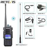 Retevis Ailunce HD1 de banda Dual DMR Walkie Talkie Radio Digital (GPS) VHF UHF HF transceptor de Radio Amateur + Accesorios