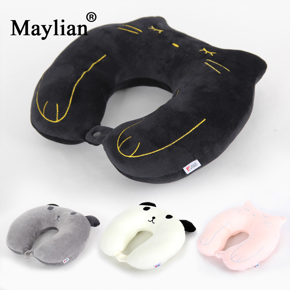 Memory Foam U Shaped Travel Pillow Neck Support Head Rest Airplane Cushion Toy