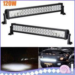 120W taśmy LED światła do samochodu powodzi listwa świetlna jazdy lampa robocza Off Road SUV VAN ciężarówki łodzi 12V samochodów LED lampy|Błyszczące oświetlenie|   -