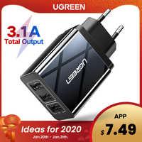 Ugreen carregador usb para iphone xs x 8 7 carregador de telefone rápido para samsung xiaomi huawei carregador de parede adaptador da ue carregador de telefone móvel