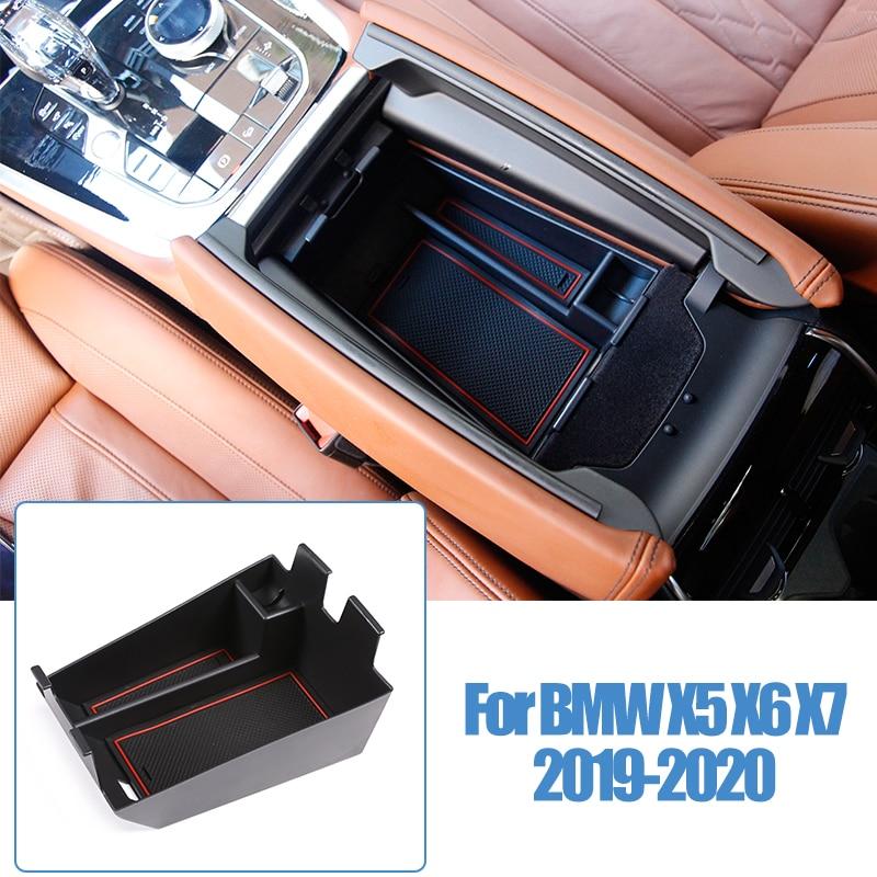 Внутренняя коробка для хранения подлокотника для BMW X5 X6 X7 G05 G07 2019-2020, декоративная крышка, накладка, пластиковые автомобильные аксессуары