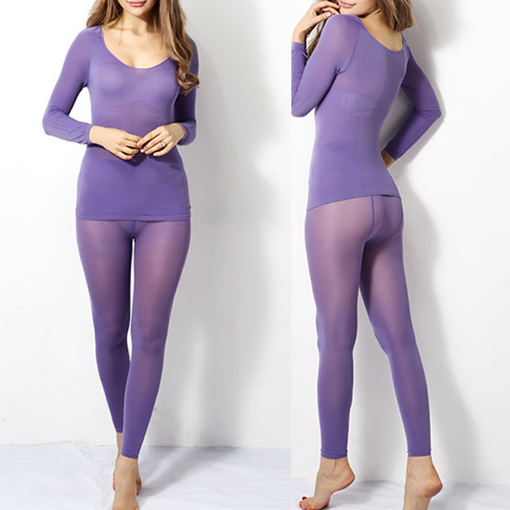 Seamless Elastic Thermal Inner Wear Ultra-thin Autumn Clothes Women Body Shaping Thermal Underwear  GDD99