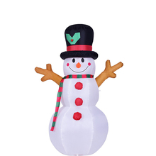 цена на 1.6M Christmas Snowman LED Inflatable Model Santa Claus Figure Doll Outdoor Garden Toy Xmas Decoration for Home Broom Cover X009