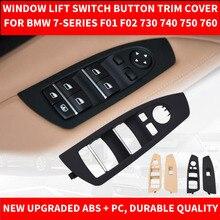 Автомобильный Стайлинг Черный Бежевый автомобильный внутренний стеклоподъемник Кнопка декоративный кожух для BMW 7-series F01 F02 730 740 09