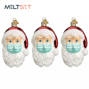 2020 DIY Quarantine Christmas Ornaments Santa Claus with Mask Christmas Decorations Personalized Christmas Tree Hanging Pendants