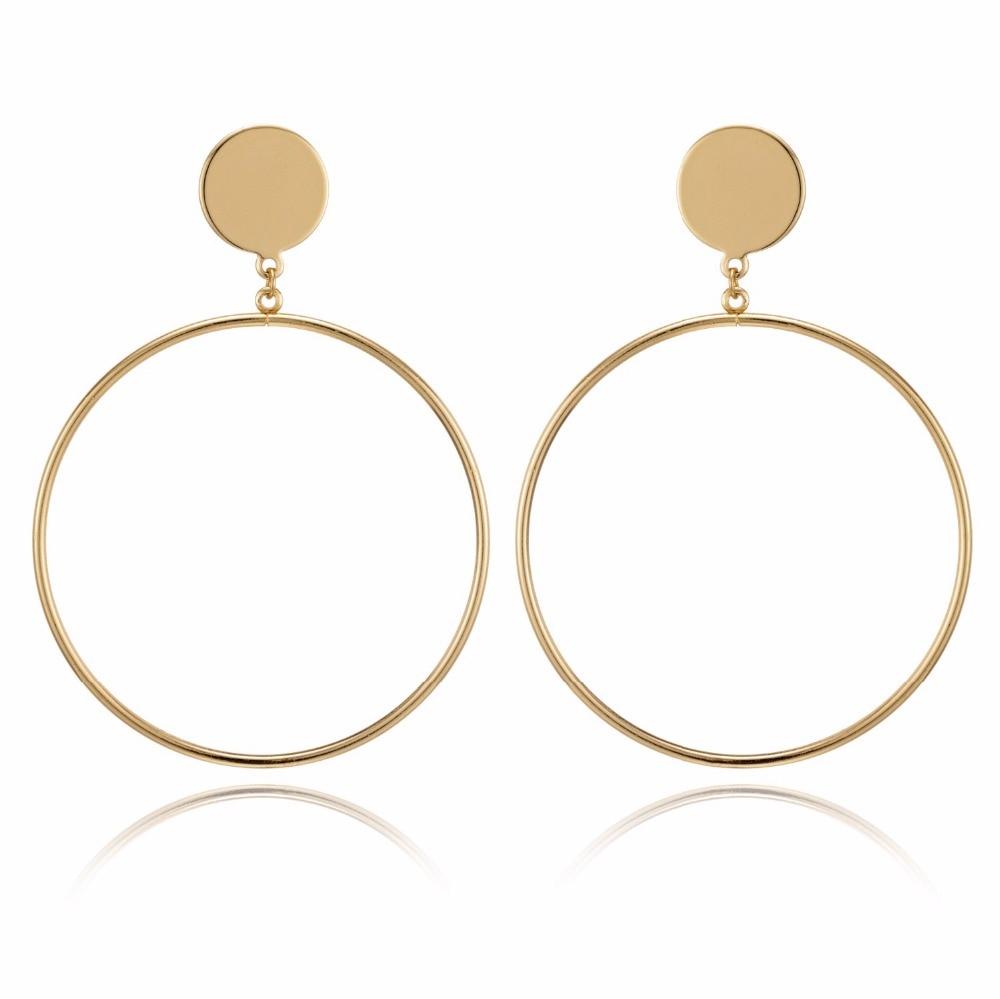 IPARAM, новинка, большие круглые серьги-кольца для женщин, модные, массивные, золотой, в стиле панк, очаровательные серьги, вечерние ювелирные изделия - Окраска металла: E034-1