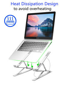 Laptop-Stand Raise Adjustable Double-Layer Aluminum Height 6 9 Levels