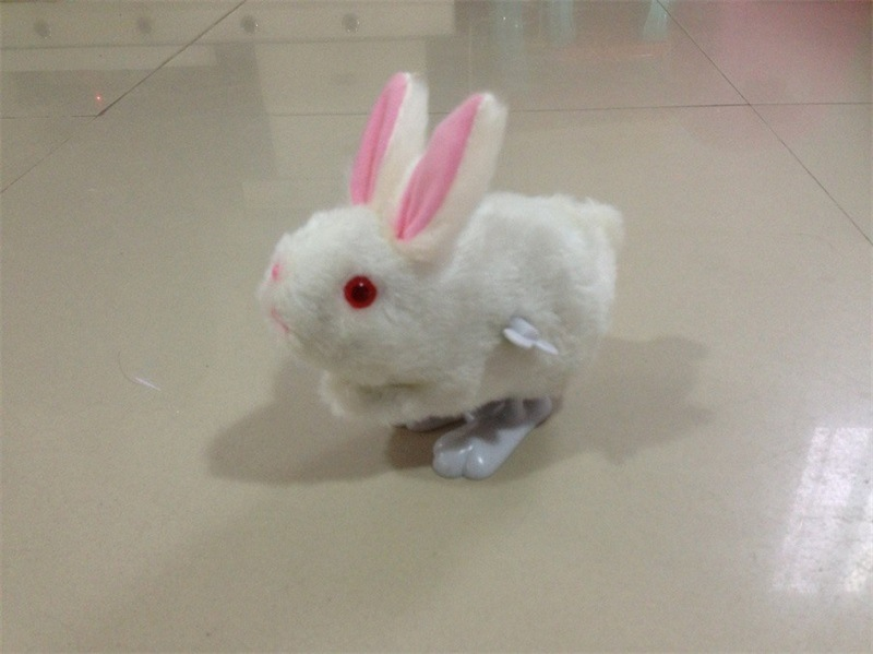 White Plush Spring Rabbit Winding Cute Rabbit Children'S Educational Gift Stall Toy Supply Of Goods Hot Selling