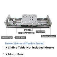 250MM Hub CNC Linear modul Schiebe Tisch XYZ Achsen Kreuz Slide Linear Bühne SFU1605 sfu1610 Ball schraube C7-in Linearführungen aus Heimwerkerbedarf bei