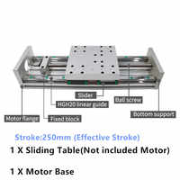 250MM Stroke CNC Linear module Sliding Table XYZ Axis Cross Slide Linear Stage SFU1605 sfu1610 Ball screw C7