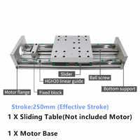 250MM Stroke CNC Linear module Sliding Table XYZ Axis Cross Slide Linear Stage SFU1605 sfu1610 Ball screw C7