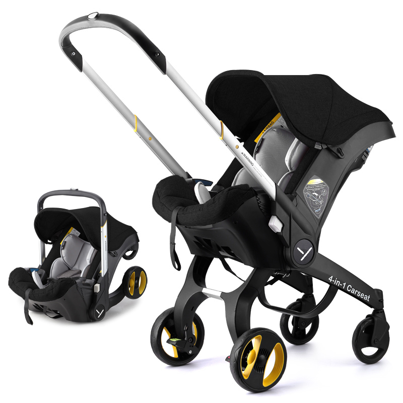Baby Stroller 4 In 1 Travel Systems Stroller Baby Foldable Portable Jogging Stroller Newborn Baby Carriage