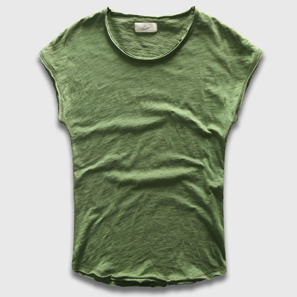 Men T-Shirt Fashion Crew Neck Sleeveless Plain TShirts Men Swag Hip Hop Basic Male Top Tees Shirts