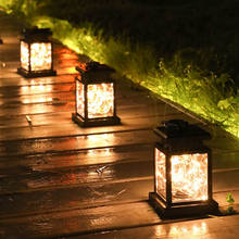 LED Solar lamps Garden Lights Decoration Flickering Flameless Candle Outdoor Lighting Smokeless Solar Lantern For Camping