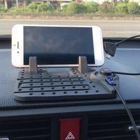 Мягкий силиконовый держатель для мобильного телефона Gps для приборной панели автомобиля нескользящий коврик настольная подставка для Iphone/...