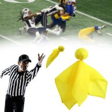 American Football Referee Props Small Yellow Flag Foul Training Game Can Flag Be Throwing Used Daily H5A7