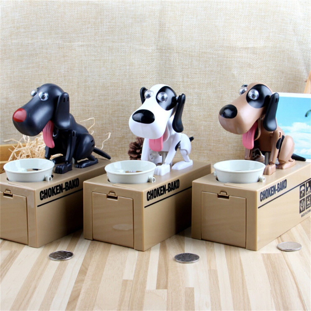 Cute Coin Coin Change Box Automated Dog Steal Coin Bank  Bank Money Saving Box Gift Coin Stealing Dog Piggy Bank Toy L0218