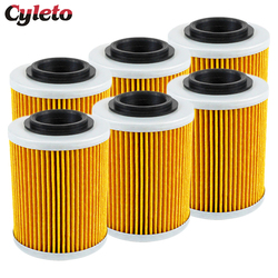 2/4/6 Pcs Cyleto Motorcycle Oil Filter for BRP Bombardier DS650 Baja DS 650 Outlander Max 330 400 650 800 2x4 4x4 HO EFI XT