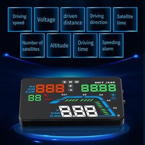 Image 3 - NEUE Q7 5,5 Zoll Auto Auto HUD GPS Head Up Display Universal Geschwindigkeitsmesser Überdrehzahl Warnung Dashboard Windschutzscheibe Projektor