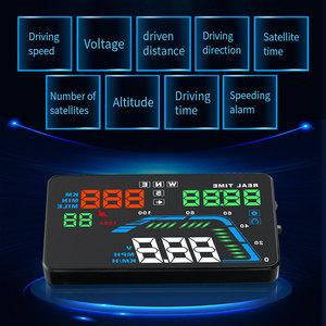 Image 3 - NEW Q7 5.5Inch Auto Car HUD GPS Head Up Display Universal Speedometers Overspeed Warning Dashboard Windshield Projector