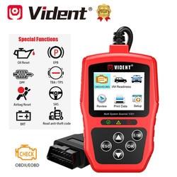 Vident V301 OBD2 Full Auto Diagnostic Tool SAS EPB DPF Oil Battery Reset Services for V-A-G V-W /Audi /Skoda /Seat Scanner