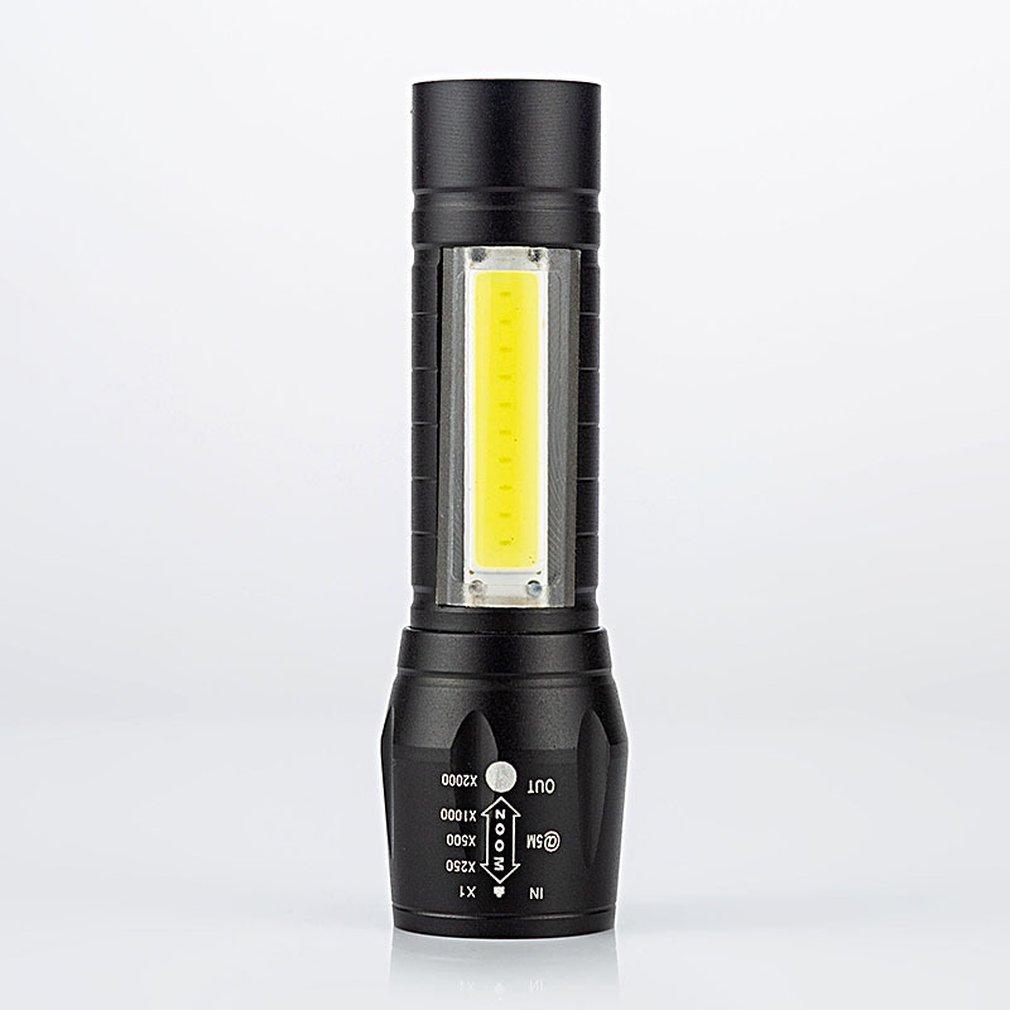 USB Aluminum Alloy COB Flashlight High Power LED Waterproof Outdoor Camping Hiking Hunting Torch Flashlight