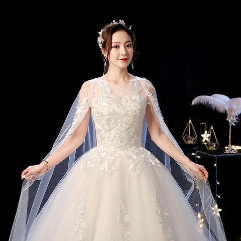 Elelgant Court Train Lace Wedding Dress 2019 New Princess Vintage Bride Dress Plus Szie Vestidos De Casamento Do Trem Da Corte Multan