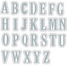 Whole Set A-Z 26 Alphabets Letters Metal Cutting Dies+Plastic Stencils for DIY Scrapbooking Crafts new 2019 Embossing Paper Card