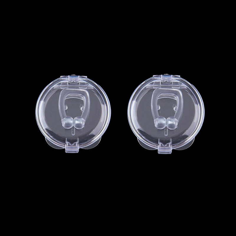 2Pcs Mini Anti Snoring Snore Stoper Device Silicone Nose Clip Sleep Noise Guard Sleeping Health Care Tool