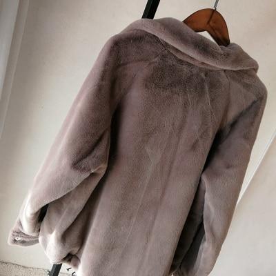 2019 New Style High-end Fashion Women Faux Fur Coat S99