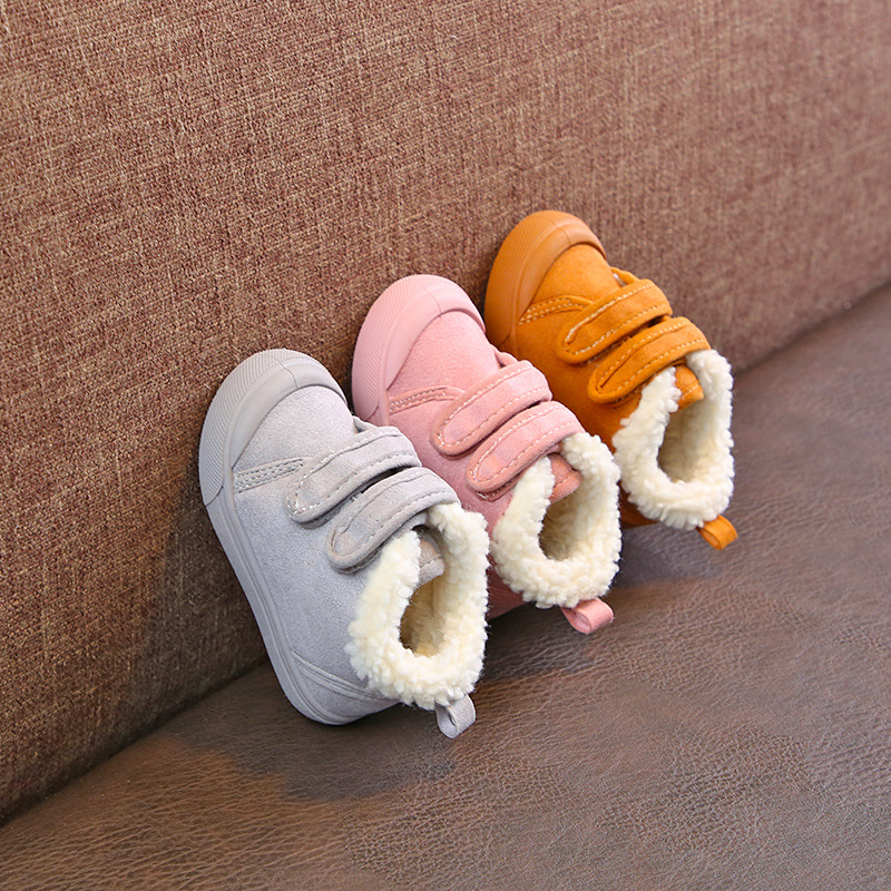 Winter Children's Small Cotton Shoes Thick Warm Baby Cotton  Toddler Shoes Soft Bottom Non-slip Children's Boots