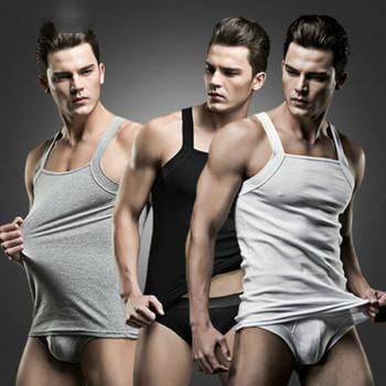 Męska koszulka z okrągłym dekoltem podkoszulek podkoszulek bielizna prezentowa XL L M bielizna męska bielizna męska zapasy tanie i dobre opinie CN (pochodzenie) COTTON Sleeveless Shirts Tops China 95 Cotton