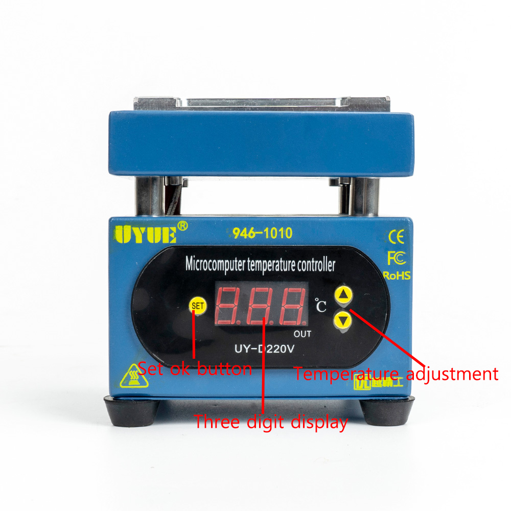 Tools : UYUE 946 LED Display Electronic Preheating Station Platform for Mobile Phone Repair BGA Rework LCD touch screen separate