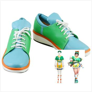 OW Cosplay Mei Shoes Honeydew Skin Mei Ling Zhou Costume Prop Cosplay Shoes image