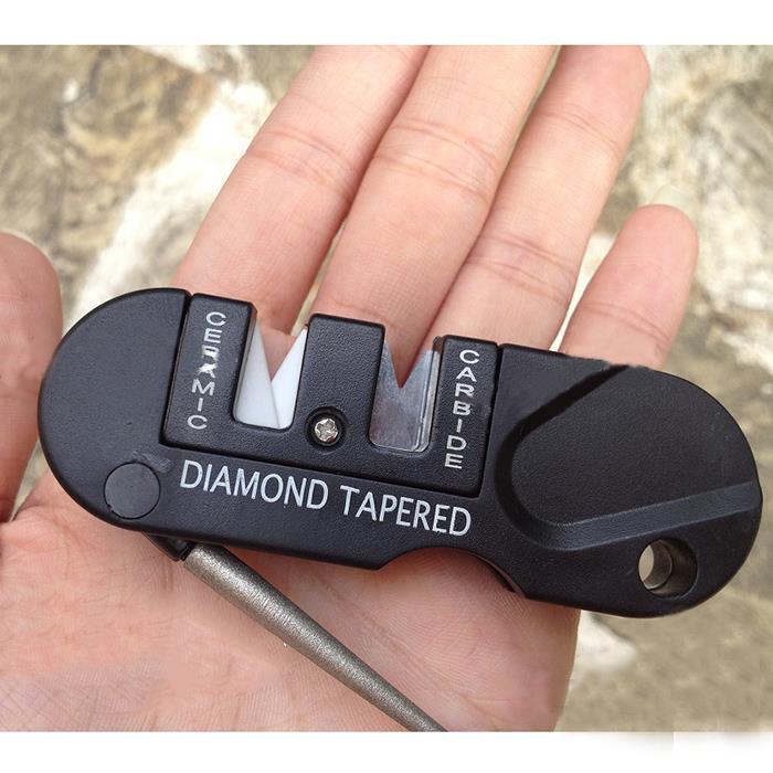 Точилка для ножей 4в1 удобный точильный камень конический Кемпинг Spyderco полувоенный 2 стальной инструмент для улицы