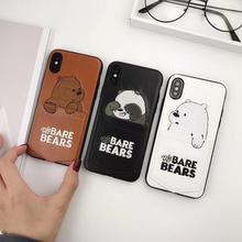 Luxury Pu Leather Cartoon Bear Phone Case for iPhone 11 Pro Xs XS MAX XR 6S 7 8