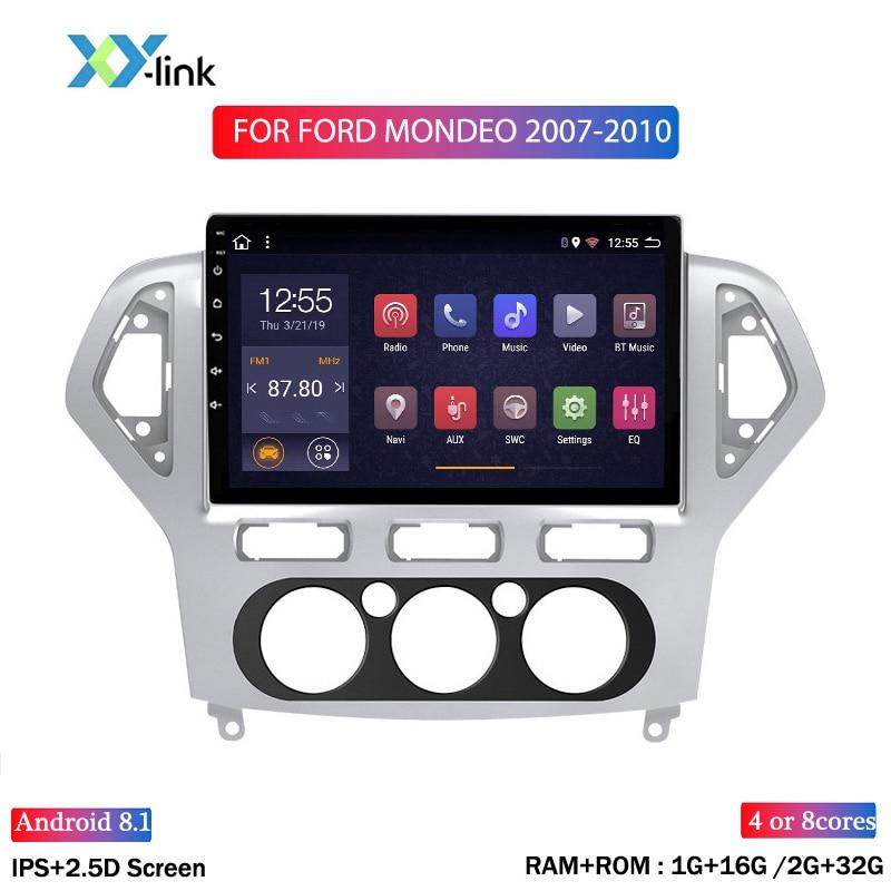 10 INCH Android 8,1 Auto radio stereo für Ford Mondeo 2007-2010 Multimedia-player gps Navigation system zubehör keine 2 din dvd pc