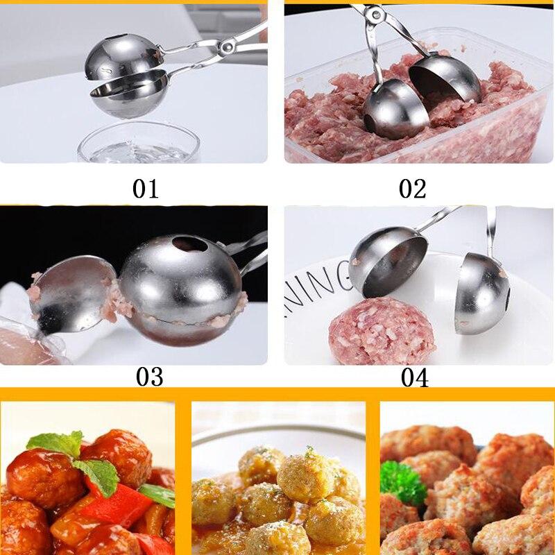 Stainless Steel Meat Baller Meatball Maker Kitchen Accessories 16/17CM