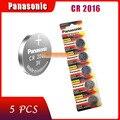 Оригинальный фирменный Новый аккумулятор для PANASONIC cr2016, 5 шт., батарейки для монет 3 в с кнопками для часов, компьютера, cr 2016