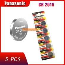 5 pçs original marca nova bateria para panasonic cr2016 3v botão pilha baterias de moeda para relógio computador cr 2016