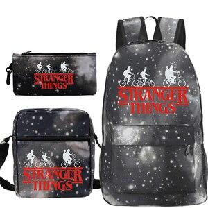 Рюкзак Mochila «очень странные дела 3», ранец в стиле хип-хоп, Повседневная сумка, шт./компл. рюкзак, школьные ранцы Kpop для девочек-подростков