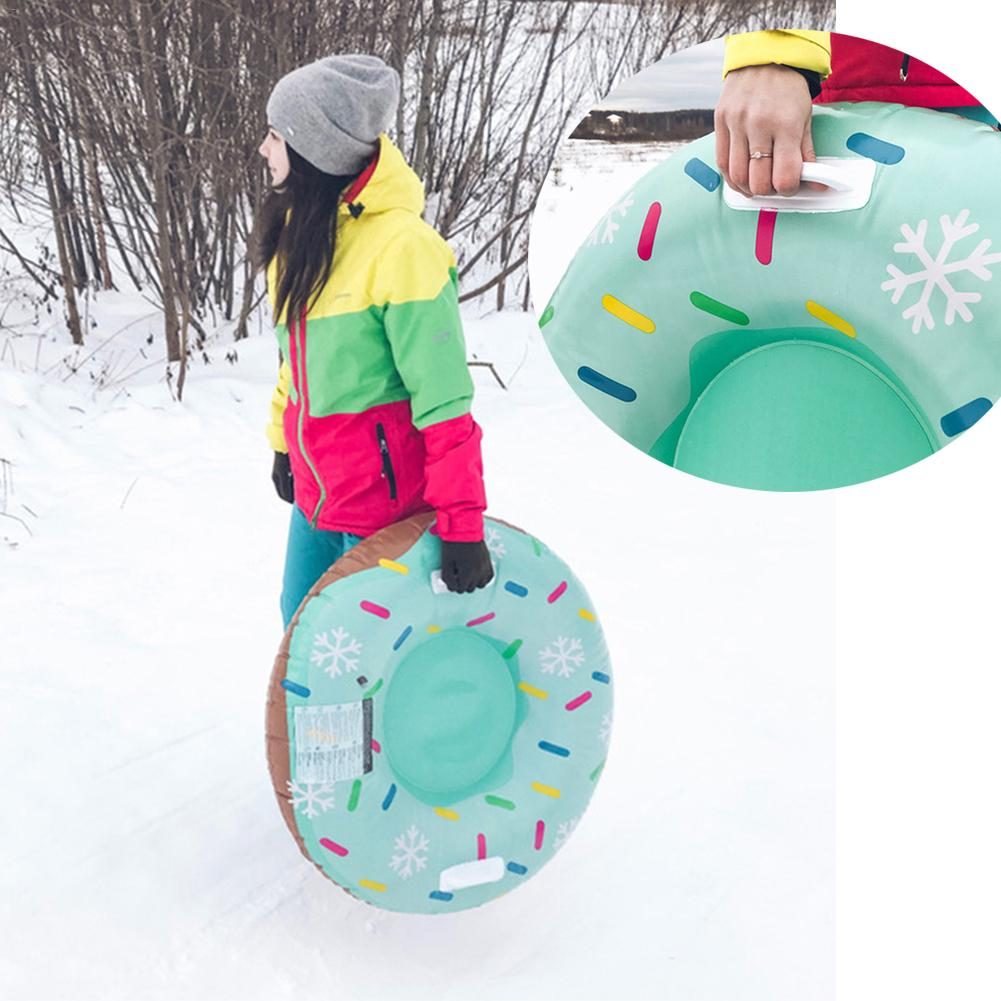 Board Ski Pad Durable Cute Appearance Children Adult Skiing Boards Sled Snow Tube Snow Tire Slippery Snowboard Winter Sports