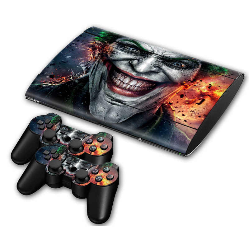 Vinyl Decal Skin Sticker For PS3 Super Slim 4000 Console Skins+2PCS Stickers For PS3 Controller Joystick Gampad Vinyl Skin
